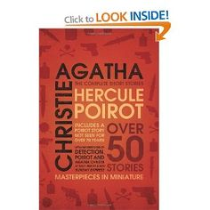 Hercule Poirot: the Complete Short Stories I Love Books, Good Books, Books To Read, My Books, Summer Reading Lists, Love Reading, Stieg Larsson, Page Turner, Mystery Books