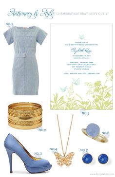 Stationery & Style: Chambray Party Outfit