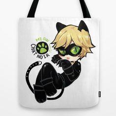 Chibi Cat Noir Tote Bag - $22 ⋆ Miraculous Ladybug Gifts!