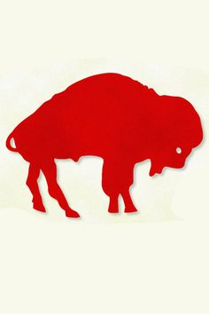 buffalo bills, just the outline of the old school buffalo logo