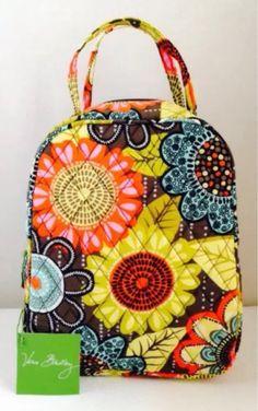f246c56e38bb NWT Vera Bradley Flower Shower Lunch Bunch Bag Boho Sunflowers Insulated Box
