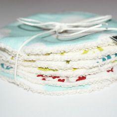 Disques à démaquiller lavables en coton bio imprimé . Kumoandfriends.ALittleMarket.com