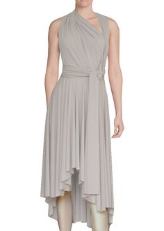 f42b29b8f5 High low infinity bridesmaid dress Light beige convertible gown for prom  evening   formal occasions XS-5XL