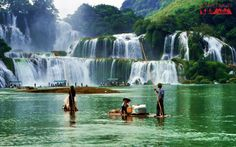 The scenery changes according to the seasons through the year. In spring, the flame-red blossoms are in full bloom. In autumn, the waterfall surroundings turn golden-yellow. In the summer, the waters become stronger and violent and during winter the fall's clear waters drop slowly. #vietnamtravel #adventuretravel #traveltovietnam