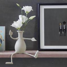 Vaas Florino / Silicone - Bras et jambes flexibles - Pa Ontwerp Vase Centerpieces, Bud Vases, Flower Vases, Flowers, Office Gifts, Office Decor, Unicorn Bath Bombs, Pots, Home Decor Vases