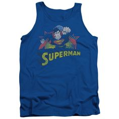 JLA/SUPERMAN ROUGH DISTRESS - ADULT TANK - ROYAL -