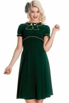 Hellbunny May West Dress Green