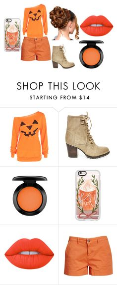 """Pumpkin Patch"" by cabre8500 on Polyvore featuring Steve Madden, MAC Cosmetics, Casetify, Lime Crime and Barbour"