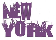 New York with buildings word silhouette by hilemanhouse on Etsy, $5.95