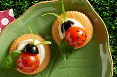 How cute are these Caprese Ladybugs??