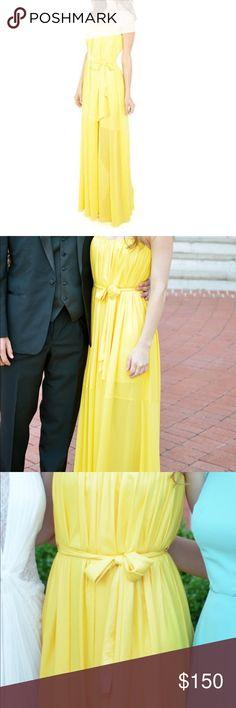 BCBG formal dress Yellow strapless BCBG Dresses Strapless