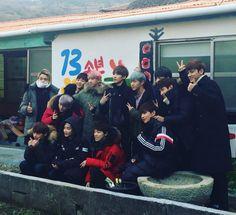 One Fine Day ' 13 Castaway Boys' Woozi, Wonwoo, Jeonghan, Mingyu Seventeen, Seventeen Debut, Seventeen One Fine Day, Joshua Hong, Pledis Entertainment, Seungkwan
