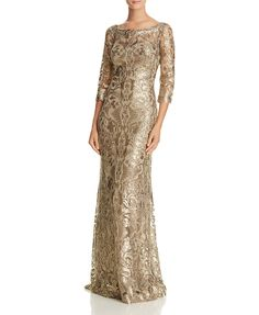 Tadashi Shoji Sequin Lace Gown   Bloomingdales's