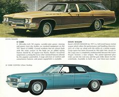 1971 Buick Estate Wagon and Le Sabre Custom 4-Door Hardtop