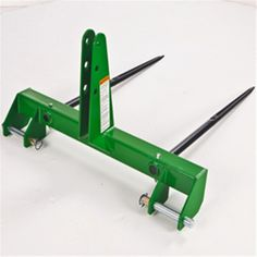 Frontier Dual Tine Bale Spear for John Deere Style Carriers for sale by Mutton Power Equipment of Fort Wayne Indiana Welding Crafts, Diy Welding, Welding Projects, 3 Point Attachments, Compact Tractor Attachments, Tractor Accessories, Tractor Implements, Tractor Mower, Baler