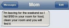 Moms are super savvy when it comes to getting you to do your chores. | 21 Pictures That Prove That Moms Know Everything