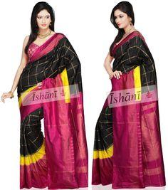 Ikat pure silk saree SKU: ISB5087 Contact : +918861255270 ishanisarees@gmail.com www.facebook.com/ishanisarees