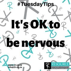 Interview nerves are very normal and to be expected. If you feel that it is going to be an issue, tell the interviewer. Most interviewers will be a little gentler, and generally naming your fear, takes away it's power. . . For more helpful tips visit www.2r.co.za . #tuesdaytips #interviewtips #careertips #interviewtips #kznjobs #durbanjobs #toptips #yougotthis #resourcerecruitment Interview Nerves, Stress Management, Stress And Anxiety, Helpful Tips, How Are You Feeling, Names, Feelings, Blog, Useful Tips