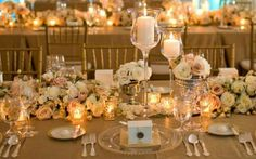 Arranjos da mesa,  o potinho com vela