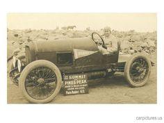 Vintage Racing Car on Pike's Peak Giclee. Oldsmobile, driver, curves, hot wheels, vehicle, transportation, vintage, photo, sapira.