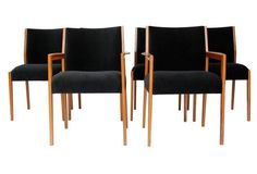 Midcentury Dining Chairs, Set of 6