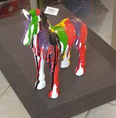 """Kunstobjekt /Designerfigur / Deko / Skulptur """"Coloured Beauty"""""""