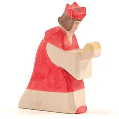 Ostheimer wooden figures.  Great for the blocks, for the Nativity, by themselves...  A little animal collection will be much used, for example.