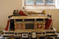 The Tomb of Henry's last victim, Henry Howard, Earl of Surrey who was beheaded just one day before the king died, has a resplendent effigy marking the tomb he shares with his wife Frances, at Framlingham in Suffolk.