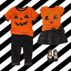 Just add spooky accessories for the perfect #Halloween look!  #kidsfashion #trickortreat #pumpkin