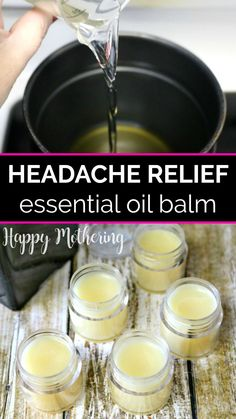 Looking for a great natural remedy for headaches? Learn how to make a DIY headache and tension relief balm that works fast. The all natural ingredients and essential oils soothe and relax tension and…More Natural Headache Remedies, Herbal Remedies, Natural Headache Relief, Instant Headache Relief, Tension Headache Relief, Young Living, Salve Recipes, Homemade Soap Recipes, Essential Oil Uses