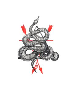 Ivan Meshkov #illustration #snake #triangle #arrows