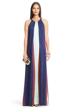 DVF Jordan Silk Maxi Dress