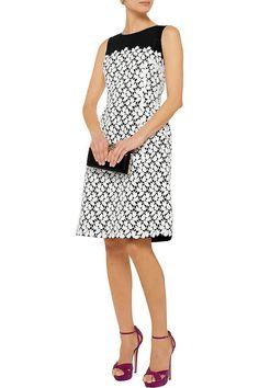 Oscar de la RentaLace-embellished silk-faille dressfront Designer Clothes  Sale a07e23ac3