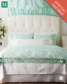 these sheets w lots of white - Lilly Pulitzer® Lilly of the Valley Percale Bedding