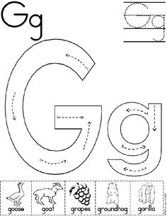 Alphabet Letter G Worksheet | Standard Block Font | Preschool Printable Activity http://www.first-school.ws/theme/alphabetp2.htm  http://www.first-school.ws/t/alpha1/a.htm  http://www.first-school.ws/activities/alpha/a/impactaposter.htm  http://www.first-school.ws/theme/alphaletter/a.htm