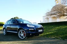Porsche Cayenne Turbo - Blue with Mahogany interior, natural leather, PWC, Zuffenhausen pick up