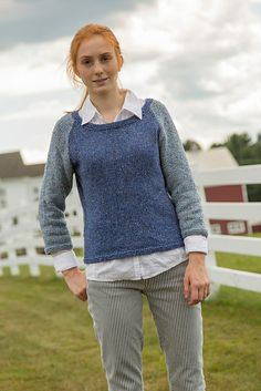 Ravelry: Hadley pattern by Susan Mills knit in Classic Elite Yarns Meadowlark and available in the Homestead Book or as a single PDF on Ravelry.