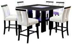 Furniture of America ioHomes Dinette Set Wood/Galaxy Black/White