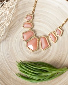 Light Pink Geometric Acrylic Bubble Necklace by NEMACollections, $15.00