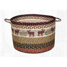 XL Moose and Pinecones Utility Basket