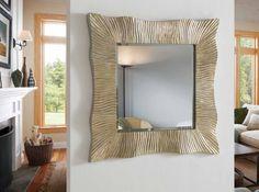 Origineller Wandspiegel : Modell NAIARA Quadratisch