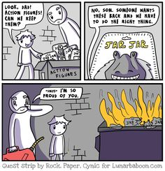 What to do when you find a box of Star Wars collectibles: guest comic for Lunarbaboon!
