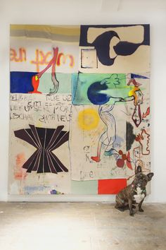 """I don't know Molly, will you explain what years are to me? Molly Zuckerman-Hartung """"What Are Years,"""" 2015 in Queen with Dana DeGiulio & Molly Zuckerman-Hartung at Lyles & King. Contemporary Art Daily, Museum Of Contemporary Art, Robert Rauschenberg, Joan Mitchell, Painting Inspiration, Art Inspo, Abstract Expressionism, Abstract Art, Abstract Painters"""