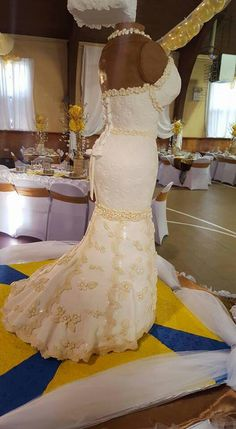 Guyanese wedding dress cake #guyanese #weddingdresscake
