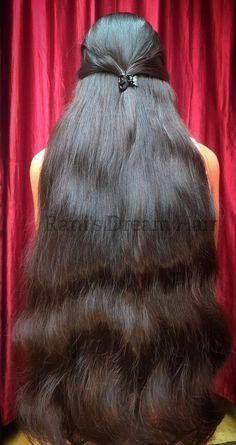 Long Silky Hair, Super Long Hair, Beautiful Long Hair, Beautiful Girl Indian, Girl Hairstyles, Braided Hairstyles, Indian Girl Bikini, Hair Girls, Bra Styles