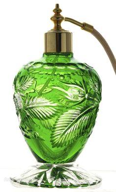 Art Deco Cut Glass Perfume Bottle/Atomiser