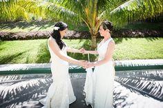 Real Wedding: Angela & Ashley's destination wedding in Cancun, Mexico; same-sex destination wedding, lesbian beach wedding, Mexico destination wedding @gaydestweds1
