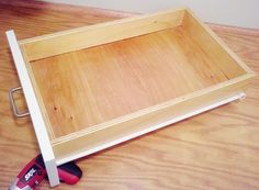 How to build drawers made simple with the kreg pocket for Building kitchen cabinets with pocket screws