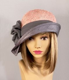 Kentucky Derby Fiona womens straw hat from the Custom Made Hats, Flapper Hat, 1920s Flapper, Hat Blocks, Mad Hatter Hats, Millinery Hats, Kentucky Derby Hats, Hats For Women, Ladies Hats