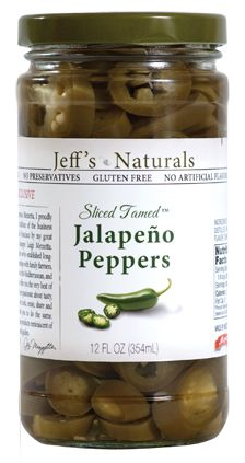 "Sliced Tamed™ Jalapeños Created exclusively for us by horticulturists at Texas A University by combining traditional jalapeño peppers with bell peppers to create a proprietary ""harmless"" jalapeño. Enjoy the pepper flavor with much less heat. Sourced in California and packed within 24-hours of harvest"